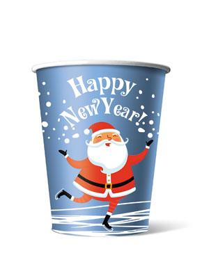 Стакан бумажный одноразовый Happy New Year 200 мл