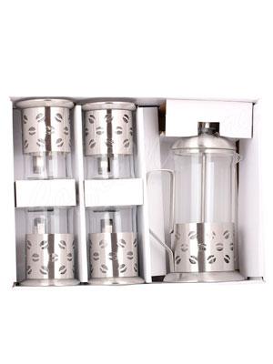 Набор Kelly KL-3022 Френч-пресс и 4 чашки