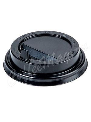Крышка для бумажных стаканов Papperskopp с клапаном 90 мм (Черная)