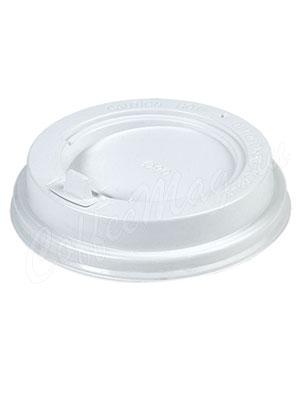 Крышка для бумажных стаканов Papperskopp с клапаном 80 мм (Белая)