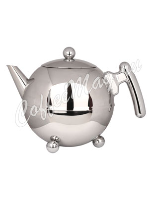 Чайник Duet Bella Ronde 1304 Z заварочный c двойными стенками 1,2л (хромированный)