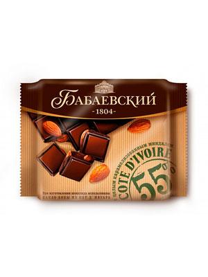 Шоколад Бабаевский Кот д`Ивуар с карамелизированным миндалем 90 гр