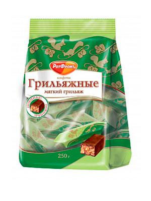 Конфеты Красный Октябрь Мягкий грильяж фас. 250 гр