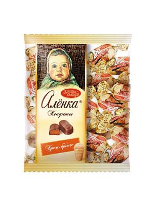 Конфеты Красный Октябрь Аленка крем брюле овал фас. 250 гр