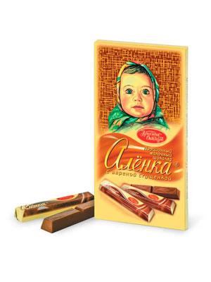 Шоколад Красный Октябрь Аленка в стиках с вареной сгущенкой 100 гр.