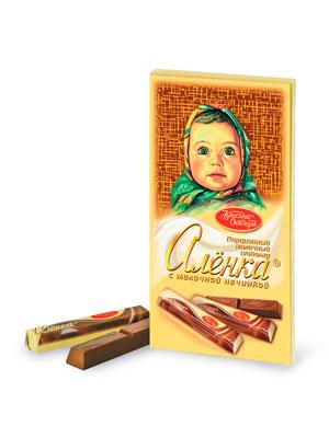 Шоколад Красный Октябрь Аленка в стиках с молочной начинкой 100 гр.