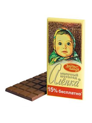 Шоколад Красный Октябрь Аленка 200 гр.