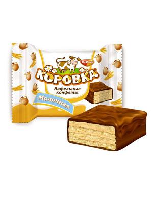 Конфеты Рот Фронт вафельные Коровка Молочная