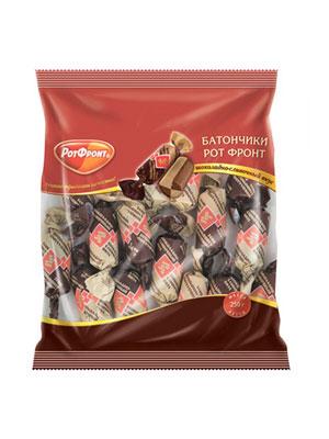 Конфеты Рот Фронт Батончики шоколадно-сливочный вкус фас. 250 гр