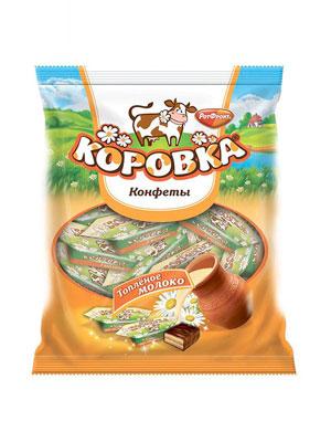 Конфеты Рот Фронт Суфле Коровка вкус Топленое молоко фас. 225 гр
