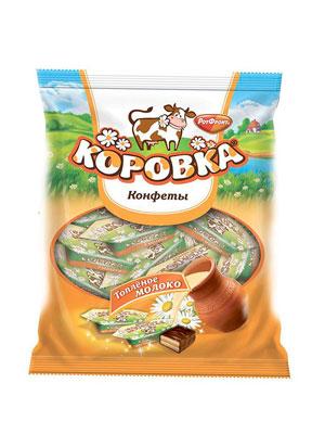 Конфеты Рот Фронт Коровка вкус топленое молоко фас. 250 гр