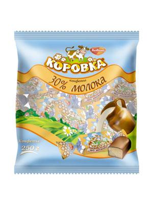Конфеты Рот Фронт Коровка 30% молока фас. 250 гр