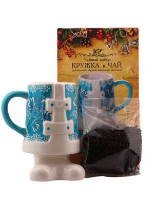 Tipson подарочный чайный набор Чай и кружка керамическая Снегурочка Люкс 3.2