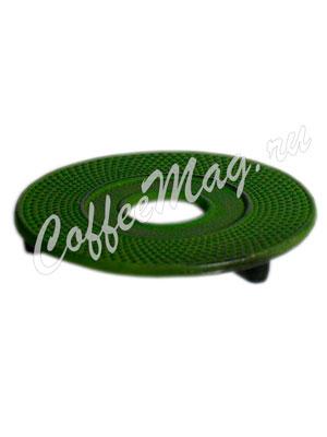 Подставка под чугунный чайник cast iron jing зеленая