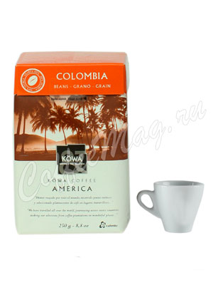 Кофе Kowa Colombia в зёрнах 250 гр.