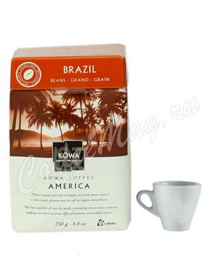 Кофе Kowa Brasil в зёрнах 250 гр.