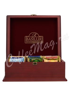 Basilur Шкатулка с чаем 60 пакетиков подарочный набор деревянная шкатулка