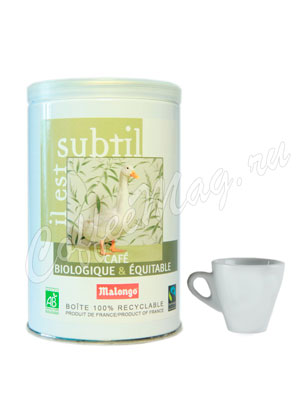 Кофе Malongo молотый Bio Деликатный 250 гр (ж.б.)