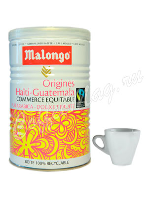 Кофе Malongo молотый Гаити-Гватемала 250 гр (ж.б.)