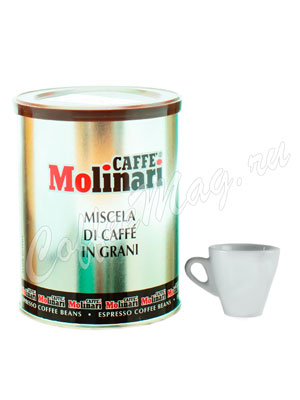 Кофе Molinari в зернах Cinque Stelle 250 гр ж.б