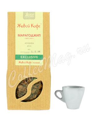 Живой кофе в зернах Марагоджип Мексика 200 гр