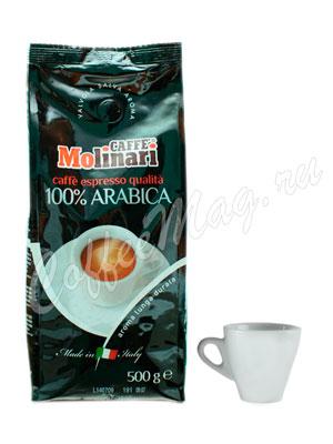 Кофе Molinari в зернах 100% Arabica 500 г