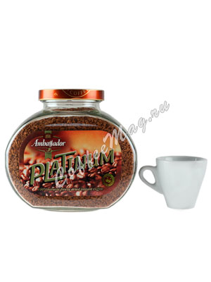 Кофе Ambassador Растворимый Platinum 190 гр (ст.б.)
