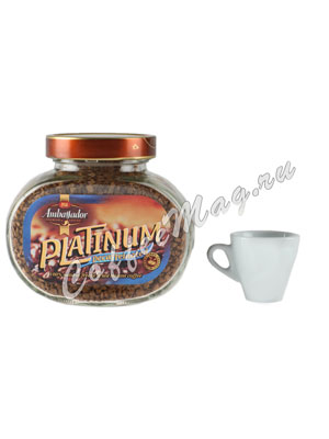 Кофе Ambassador Растворимый Platinum Decaf 47,5 гр (ст.б.)