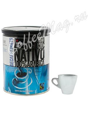 Кофе Goppion Caffe молотый Nativo без кофеина 250 гр ж.б.