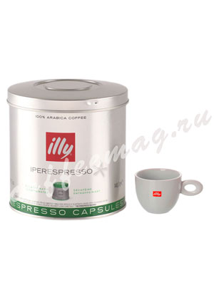 Кофе Illy в капсулах Iperespresso Decaffeinated