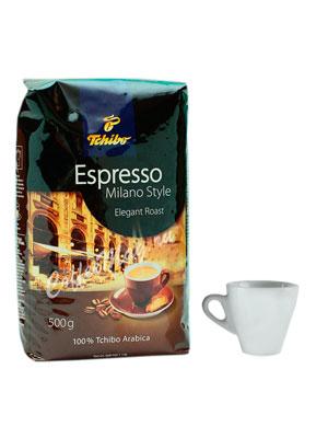 Кофе Tchibo в зернах Espresso Milano Style 500 гр