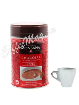 Горячий шоколад Monbana Пряный 250 гр ж.б.