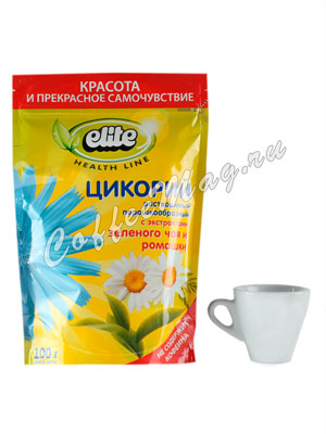 Цикорий Elite растворимый Зеленый чай и Ромашка 100 гр