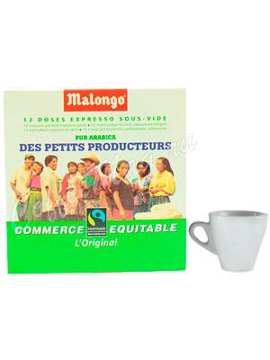 Кофе Malongo в чалдах Max Havelaar