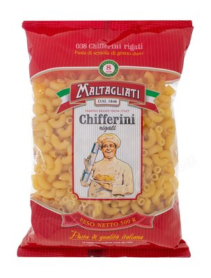 Макаронные изделия Maltagliati №038 Chifferini (Рожки) 500 г