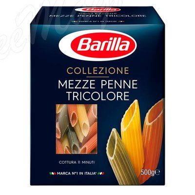 Макаронные изделия Barilla Мецце Пенне трехцветные (Mezze Penne Tricolore) №78 500 г