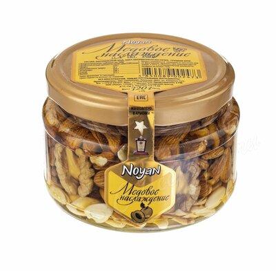 Ноян Абрикосовые косточки с грецким орехом в меде 320 г